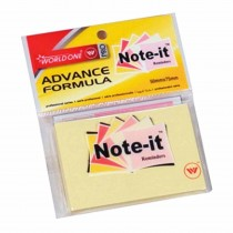 WorldOne Note-it 75mm x 75mm (100 Sheets) Pack of 4