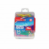 WorldOne Paper Clips Assorted Colour (Pack of 60 Clips)