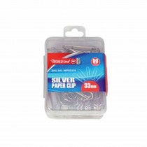 WorldOne Paper Clips Silver (Pack of 60 Clips)