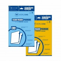 Worldone Premium L Shape Clear Holder 180 Micron (Pack of 10)