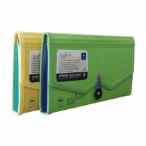 WorldOne Radiant Series Expanding Cheque Folder with Elastic Closure