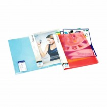 WorldOne Sandy Report File with Pocket A4 (Pack of 3)