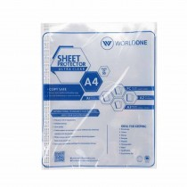 Worldone Sheet Protector 125 Micron (Pack of 50)